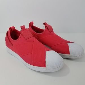 Adidas Superstar Slip On Sneakers  Orange Size 7